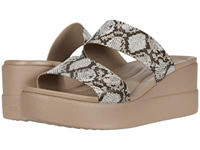 Crocs Brooklyn Mid Wedge (Multi/Stucco) Women