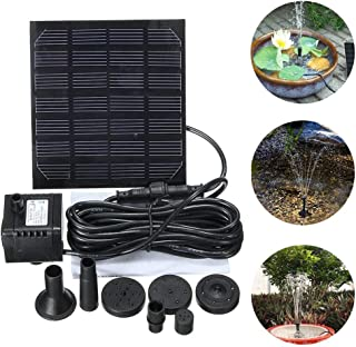 Douup Mini Solar Fountain Pump, Solar Water Pump Power Panel Kit Submersible Brushless for Garden Water Circulation/Pond Fountain (7V 1.2W)