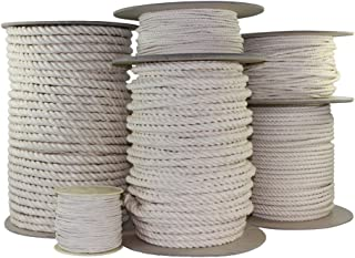 SGT KNOTS 扭曲棉绳(0.95cm - 3.81cm)* 天然绳 - 无漂白/染料 - 高强度低拉伸 - DIY 项目、工艺品、商业、宠物玩具、室内/室外(10 英尺 - 1200 英尺)