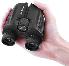 SkyGenius 10x25Compact Binocularsfor Bird Watching,High PoweredBinoculars Pocket Sizefor Theater,Concerts, Travel, BAK4 Roof Prism FMC Lens Binocularsfor Adults Kids