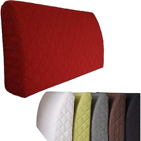 Sabeatex® Rückenkissen Keilkissen für Couch und Sofa Lesekissen für bequemes Sitzen Louge-oder Palettenkissen Größe 60 cm x 50 cm x 30 cm 5 Unifarben für trendiges Wohndesign braun