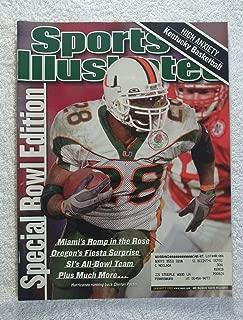 Clinton Portis - Miami Hurricanes - 2001 National Champions - Rose Bowl - Sports Illustrated - January 7, 2002 - Nebraska Cornhuskers - College Football - SI