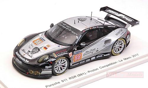 Spark Model S5840 Porsche 911 RSR N.88 DNF LM 2017 BACHLER-LEMERET 1 43 DIE CAST kompatibel mit