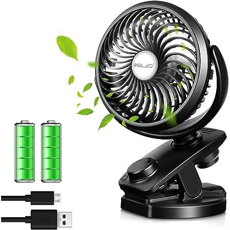 Nero Mini Ventilatore USB Ricaricabile Portabile per Passeggini//Ufficio//Casa//Viaggi GeekerChip Clip Ventilatore con 3 velocit/à Regolabili