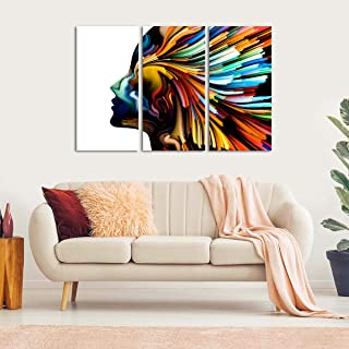 """Soul Essence Canvas Wall Art - Ready to Hang - Large Colorful Artwork for Men & Women - Hanging Print for Home Office, Living Room, Bedroom, Kitchen, Bathroom - Made in USA - 3 Panel 47"""" x 30"""""""