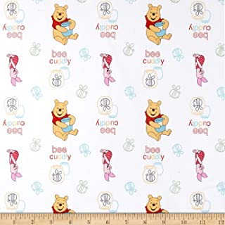 Springs Creative Products Disney Nursery Pooh Cuddly Bee Toss Multi Fabric by The Yard