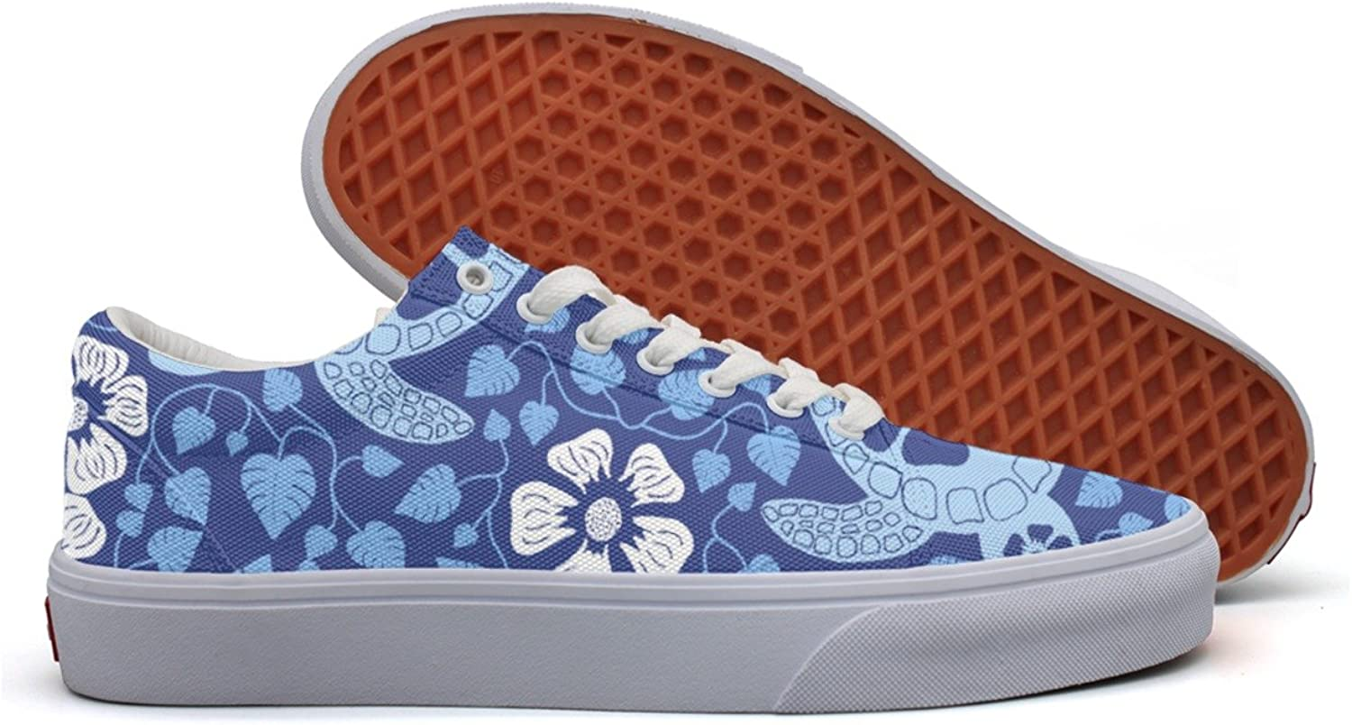 Turtle Hawaii bluee Foral Women's Casual shoes Boat Slip New Simple