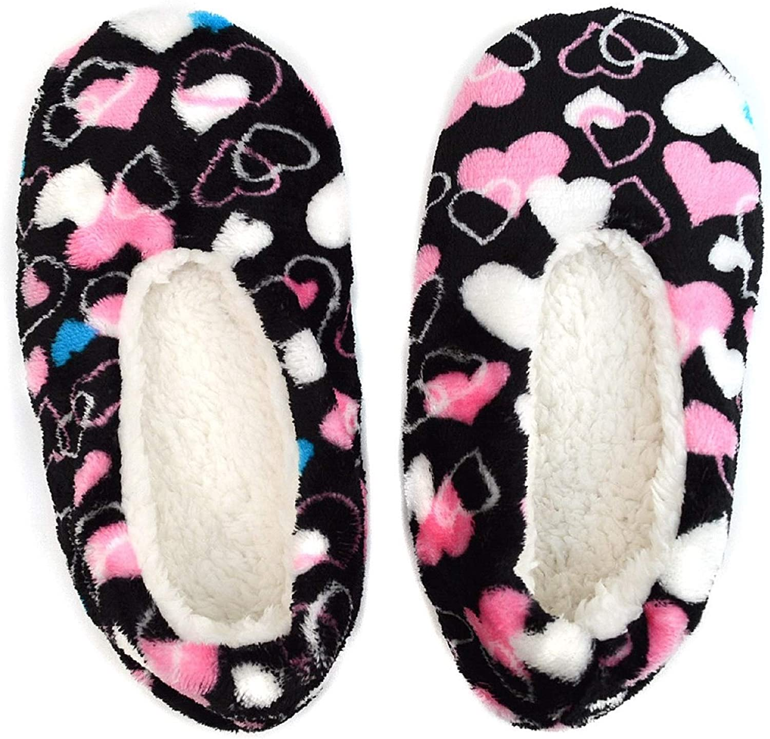 Women's Indoor Booties, Warm Plush House Slipper, Sherpa Lining, Non Skid Sole