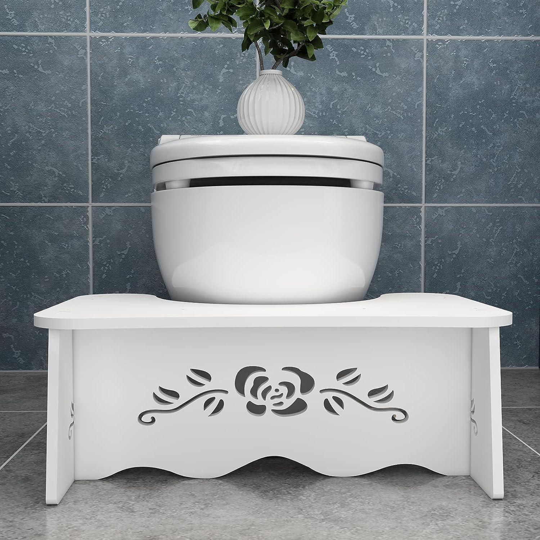 Poop Stool Toilet Stool, 7inch Poop Step Stool, Toilet Step Stoo
