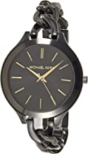 Michael Kors Casual Watch Analog Display For Women Mk3317, Black Band