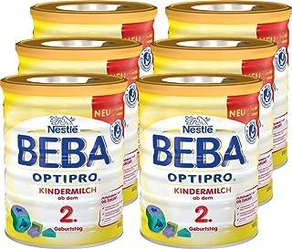 Nestlé雀巢 BEBA貝巴 OPTIPRO 兒童奶粉(2歲+)可重復密封 附帶量匙 6罐裝(6*800g)