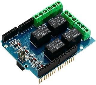 SODIAL(R) quattro canali Relay Shield 5V 4 canali 4CH rele'¡§¡§ schermo Module per Arduino TE315