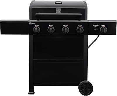 Kenmore PG-A40406SOL-1 4 Open Cart Grill with Side Burner, Black