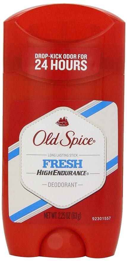パブストライプスカープオールドスパイス Old Spice ハイエンデュランス フレッシュ デオドラント スティック 男性用 63g[平行輸入品]