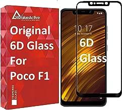 Valueactive Screen Guard For Poco F1 Tempered Glass 6D Full Glue Cover Edge-Edge Anti-Scratch Anti-Fingerprint Tempered Glass for Poco F1 with easy installation kit (Poco F1, Black) (Poco F1) (Poco F1, Black)