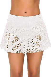 Ocean Plus Dames Elegante Gehaakte Badrok met Binnenlip Bikinirok Oversized Kanten Zwemrok Strandrok Strandshort