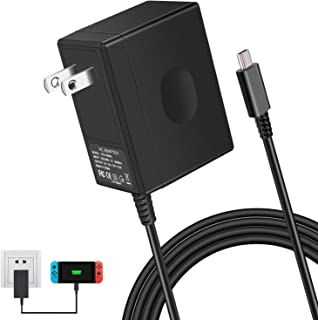 Replacement for Nintendo Switch Charger, Portable AC Adapter with 5ft Power Cord for Nintendo Switch/Switch Dock/Pro Controller, 15V 2.6A Fast Charging Power Supply Support TV Mode