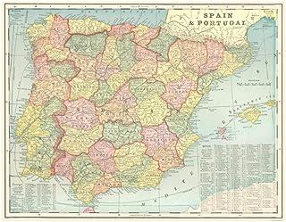 Amazon.es: mapa de españa por provincias y pueblos