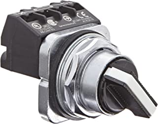 Siemens 52SA2AABA1 Heavy Duty Selector Switch Unit, Water and Oil Tight, 2 Positions, Short Lever, Maintained Operation, A Cam, 1NO + 1NC Contact Blocks