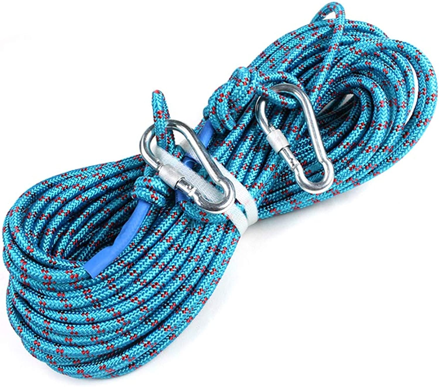 Static Climbing Rope 8mm Diameter Steel Wire Outdoor Climbing Rope Safety Rope Wear Resistant Rope Survival Equipment Supplies,40M