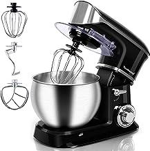 Stand Mixer, Techwood Electric Food Mixer, 6QT 800W 6-Speed Tilt-Head Kitchen Dough Mixer with Stainless Steel Bowl, Dough...