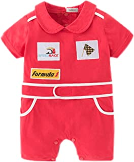 stylesilove Baby Boy Short Sleeves Chic Car Racer Costume Romper Halloween Baby Boy Clothes