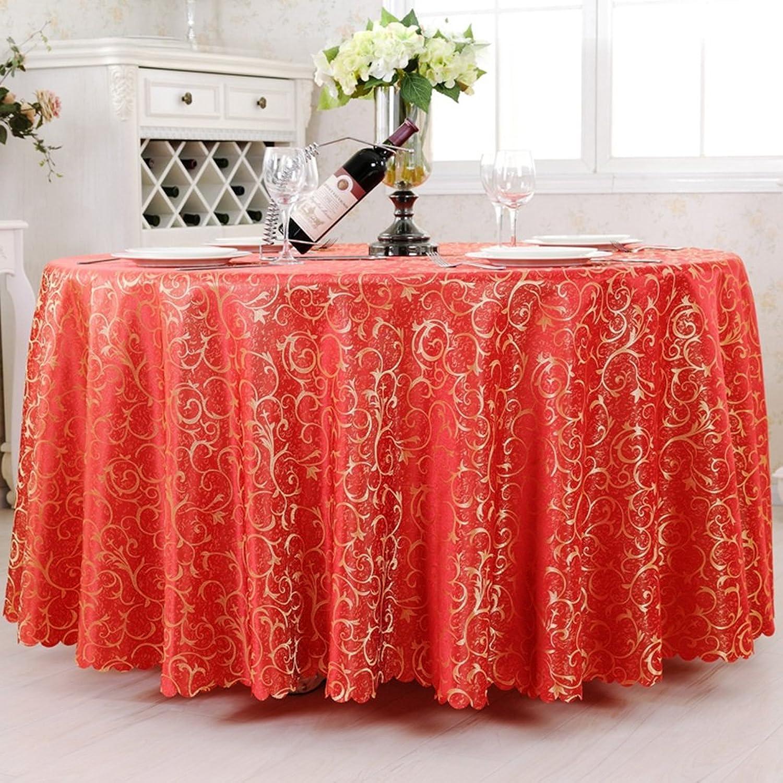 comprar nuevo barato HPSD Mantel Mantel Mantel Mantel rojoondo de Hotel, Restaurante de Gama Alta Mantel de impresión Mantelería de Moda Inicio Pastoral Mesa de Centro Mantel de Tela de impresión, Rojo (Tamaño   D300 cm)  colores increíbles