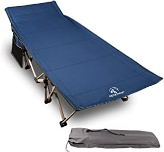 REDCAMP Folding Camping Cots for Adults 500lbs, Double Layer Oxford Strong Heavy Duty Wide Sleeping Cots for Camp Office U...