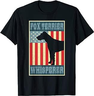 Flag USA vintage retro Fox Terrier Whisperer Lovers Gift mom T-Shirt