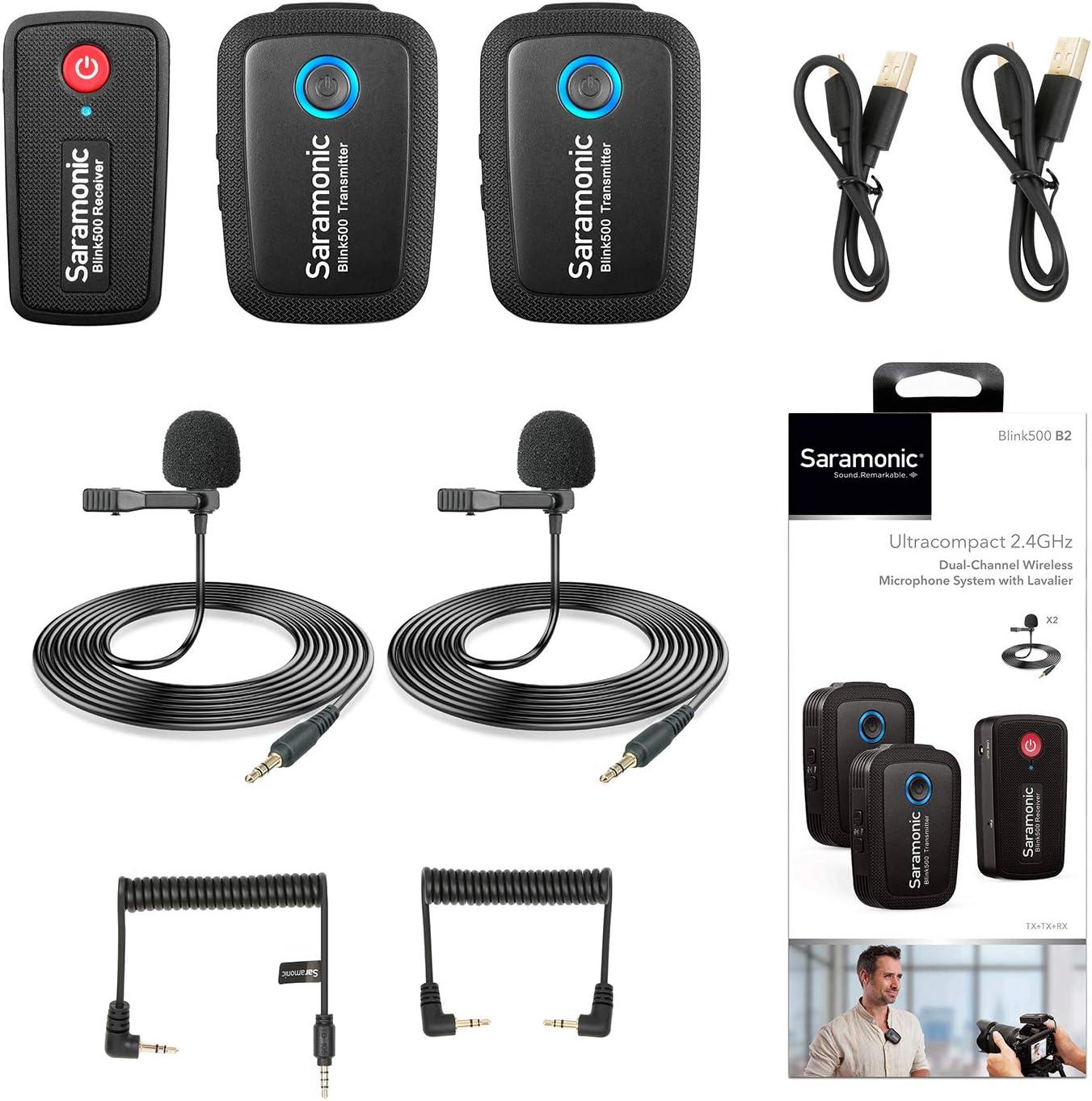 Saramonic Ultracompact 2.4GHz Popular Dual-Channel B Microphone Wireless Tulsa Mall