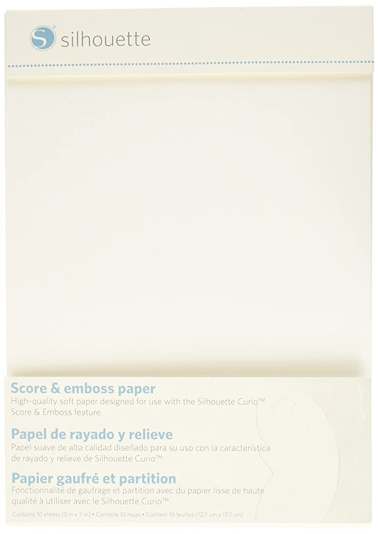 Silhouette Score and Emboss Paper, 5