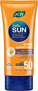 Joy Revivify Hello Sun Sunblock & Anti-tan Lotion Tinted Sunscreen SPF 50 PA+++, 60 ml