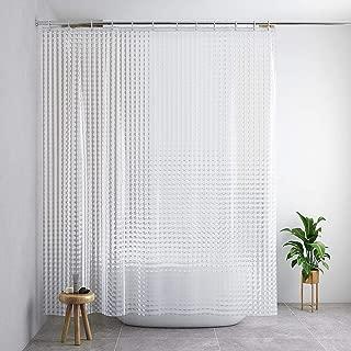 Blu-Pier Tech 3D Crystal Pattern Mildew Free EVA Bathroom Shower Curtain Liner-Eco Friendly, No Mildew, No Odors, No Chemicals