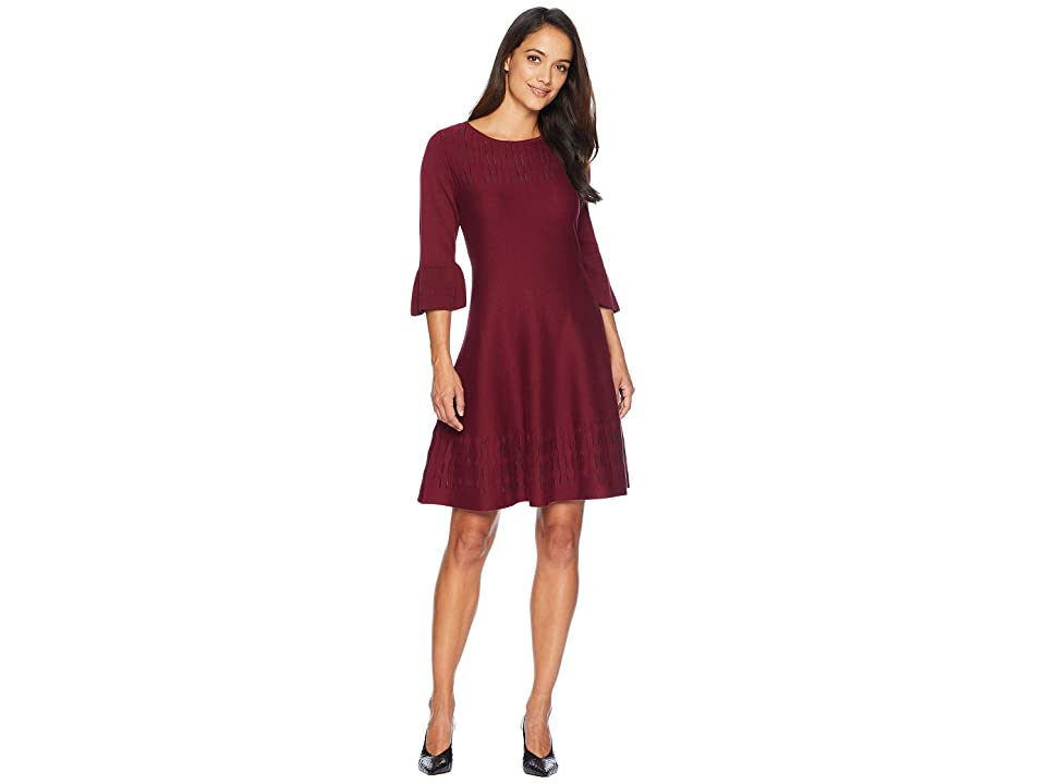 NIC+ZOE Petite Illusion Twirl Dress (Amaranth) Women