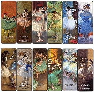 Dance Bookmarks Cards (60-Pack) – Beautiful Bookmarker Collection for Women Girls Ballerina - Edgar Degas Painting Art Classroom Incentives Rewards Stocking Stuffers