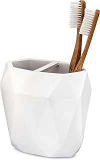 Essentra Home Modern White Collection Toothbrush Holder