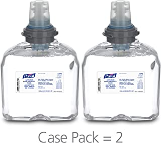 PURELL Advanced Hand Sanitizer Foam, Clean Scent, 1200 mL Hand Sanitizer Foam Refill for PURELL TFX Touch-Free Dispenser (Pack of 2) - 5392-02