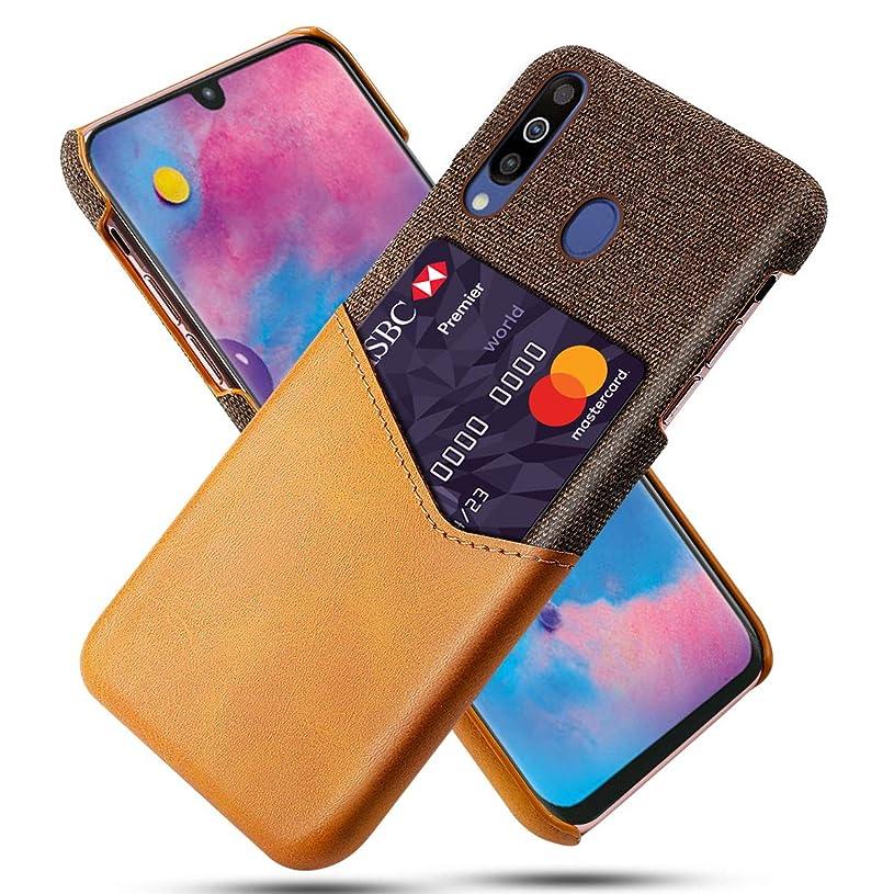 すみません診療所かすかなSamsung Galaxy M30 - バンパー 携帯電話ケース 財布 スタイル フリップ カバー シェル の Samsung Galaxy M30 のみ (Samsung Galaxy M30 カバー Orange)