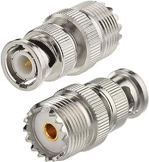 Eightwood CB Radio Adapter BNC Adapter UHF Adapter BNC Male naar UHF SO239 Vrouwelijke Antenne Adapter 2 stuks voor BNC An...