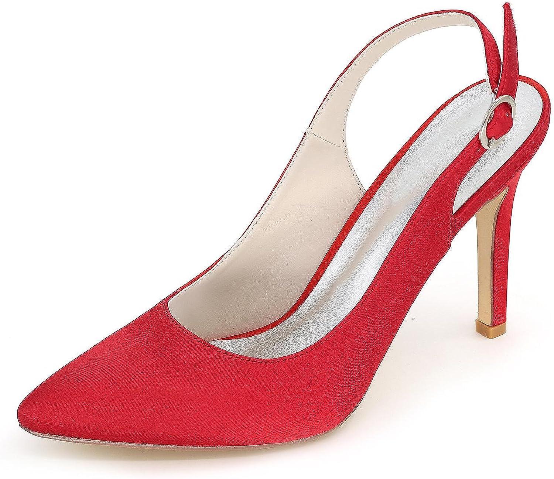 L@YC F Women Wedding shoes Comfortable High Heels Wedding & Satin Evening Dress 0608-20 Large Yards