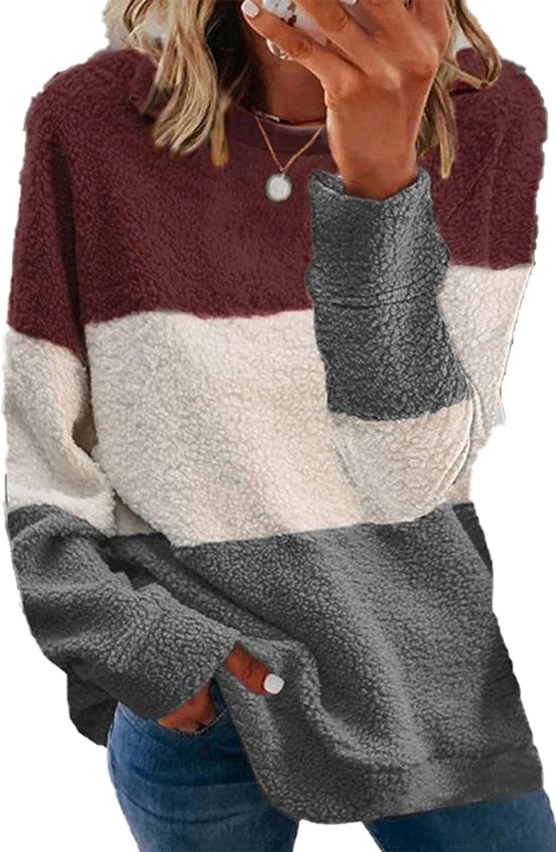 GOLDPKF Women's Fashion Hoodies & Sweatshirts Long Sleeve Fleece Pullover Tops