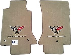 C5 Corvette Carpet Floor Mats Light Shale (Tan) W/Double Logo -Lloyd Velourtex