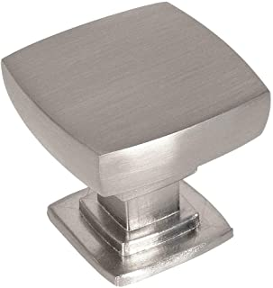 10 Pack - Cosmas 5232SN Satin Nickel Contemporary Square Cabinet Knob