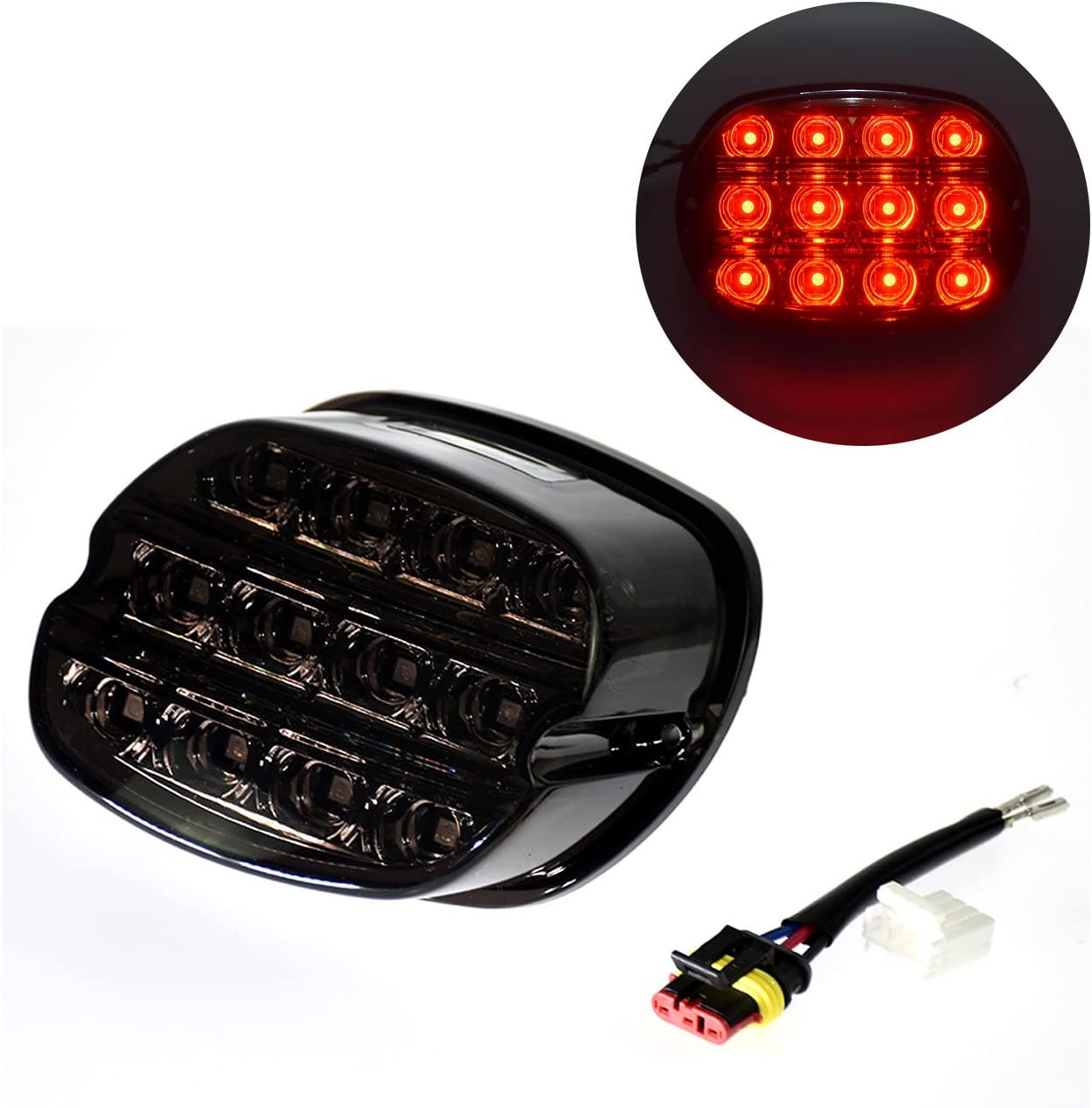 Motorcycle Rear Led Tail Light Plate Running License Shipping included All stores are sold Taill Brake
