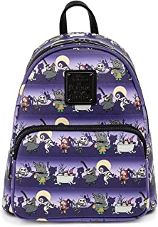 Loungefly Disney Nightmare Before Christmas Halloween Line Womens Double Strap Shoulder Bag Purse