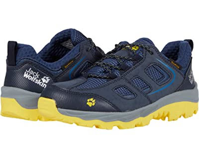 Jack Wolfskin Kids Vojo Texapore Low (Toddler/Little Kid/Big Kid) (Dark Blue/Yellow) Kids Shoes