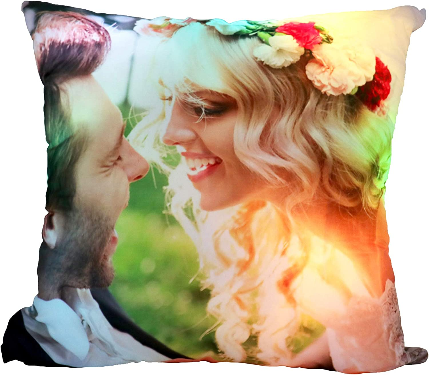 Personalized Light Up Outlet SALE Glowing LED P Pillow Photo Custom Max 56% OFF Luminous