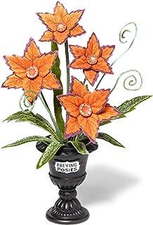Hyde & Eek! Orange Preying Posies Halloween Plant Medium