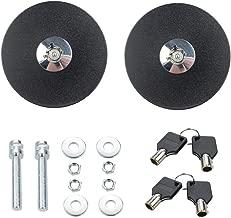 DEWHEL Universal Round JDM Mount Bonnet Hood Lock Pins Kit w/Key Color Black