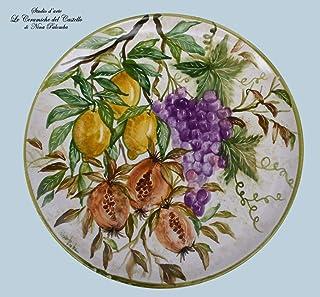 Piatto da muro Melograni Limoni Uva Ceramica Handmade Le Ceramiche del Castello Nina Palomba 100% Made in Italy Dimensioni...
